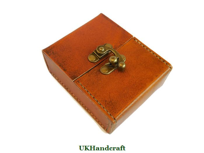 superior quality 69672 f35d0 Leather Playing Card Case Double Deck
