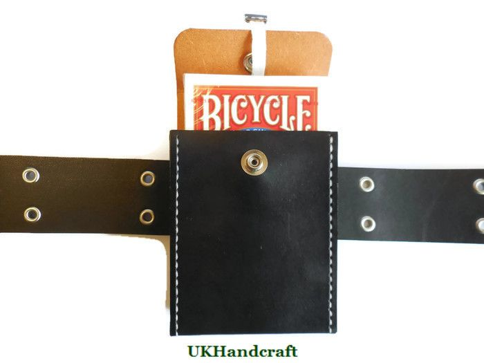 outlet store f6556 b01f2 Playing Card Deck Leather Case with Belt Loop