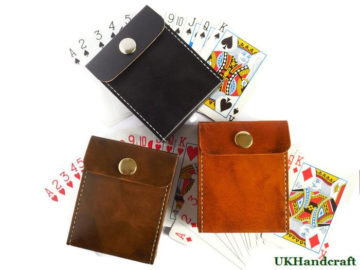 Handmade Leather Playing Card Cases by UKHandcraft