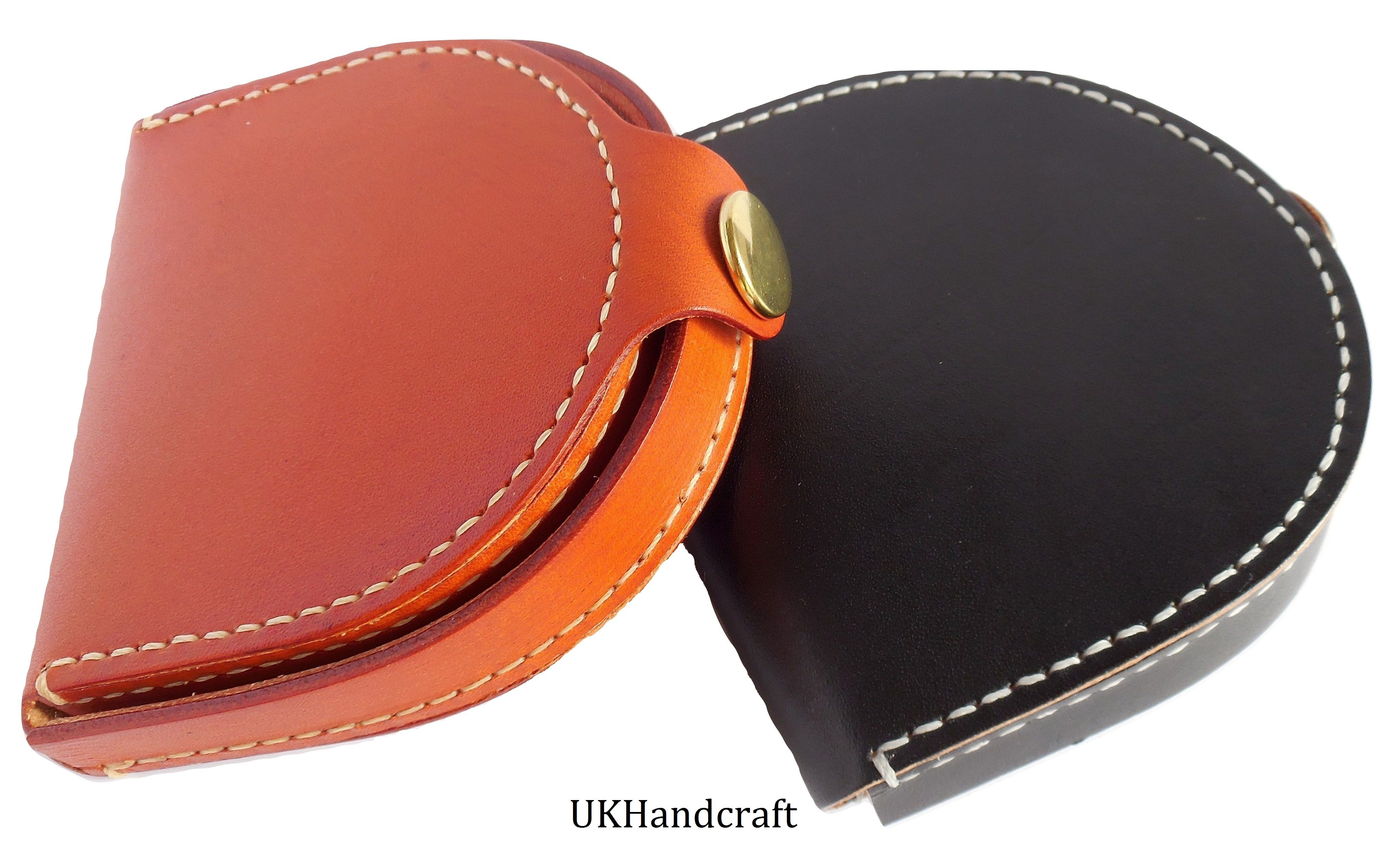 Leather Coin Purse Wallet by UKHandcraft