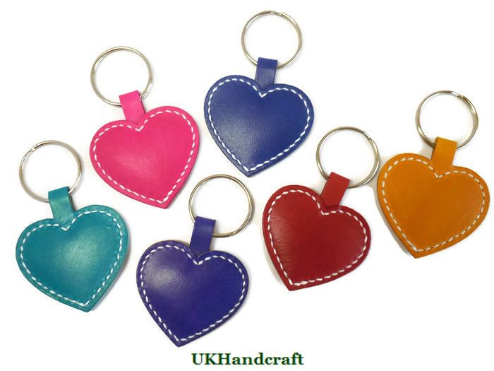 Handmade Leather Key Rings & Key Chains by UKHandcraft