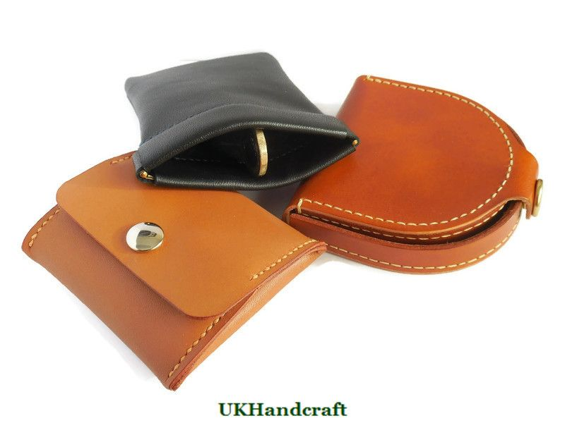 Handmade Leather Coin Purses from UKHandcraft