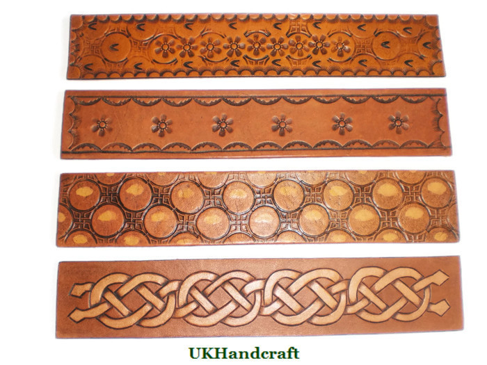 Handmade Leather Bookmarks in variety of Styles made in Great Britain by UKHandcraft